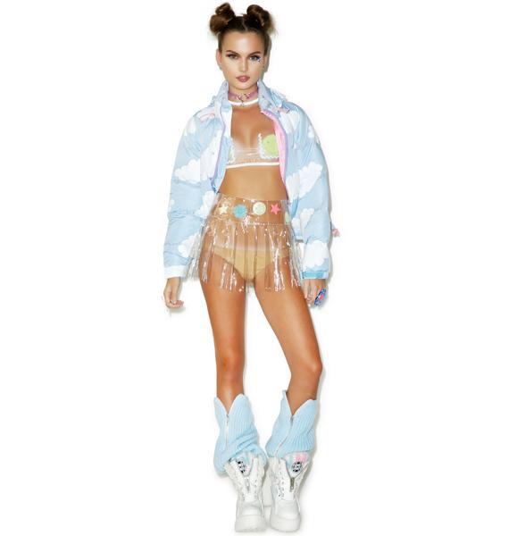 Indyanna Glow Spice PVC Pleated Skirt