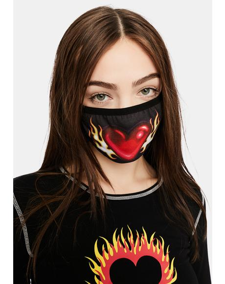 Let's String The Lights Flame Heart Mask