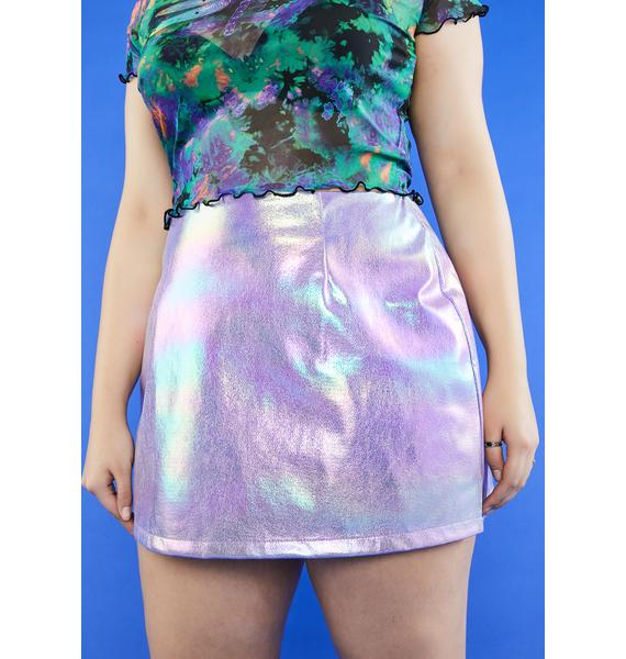 dELiA*s by Dolls Kill My Vision Of Love Mini Skirt