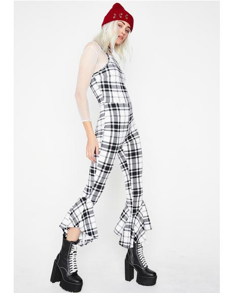 Hot Gossip Plaid Jumpsuit