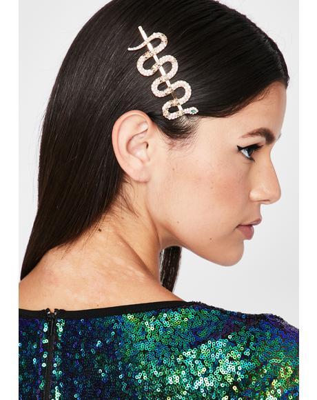 Icy Kween Cobra Rhinestone Hair Clip
