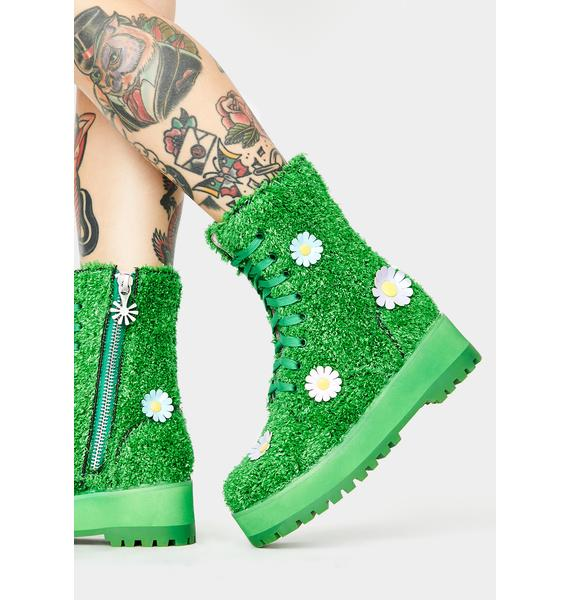 dELiA*s by Dolls Kill It's Always Greener Combat Boots