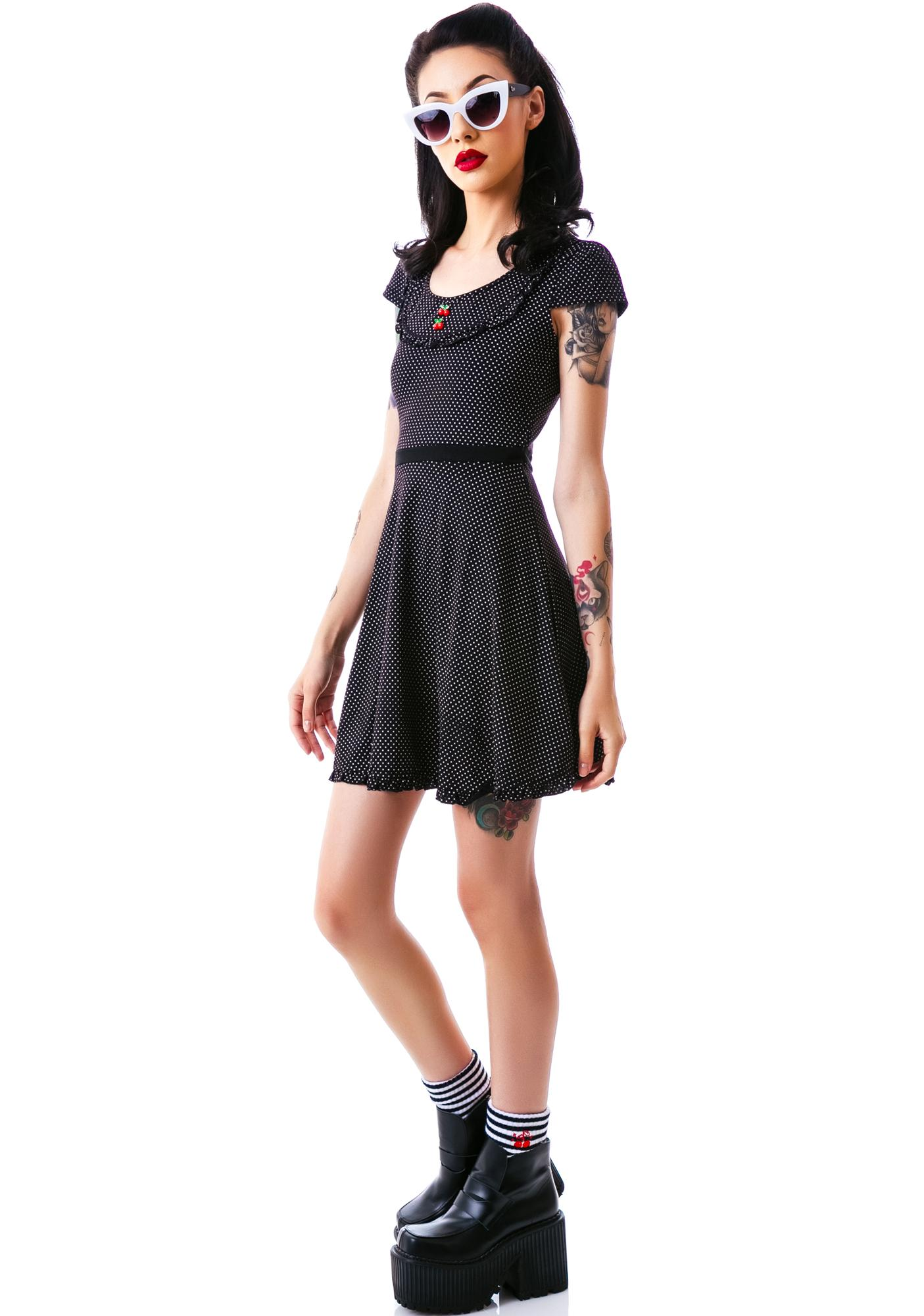 Sourpuss Clothing Patsy Cherry Buttons Dress