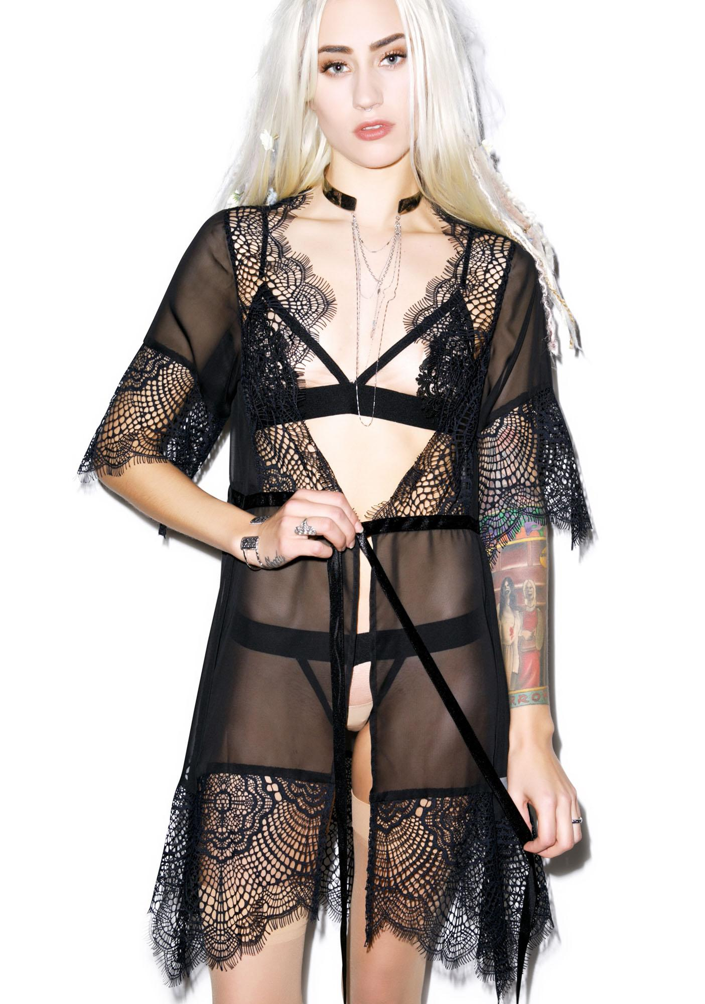 For Love & Lemons Bat Your Lashes Robe