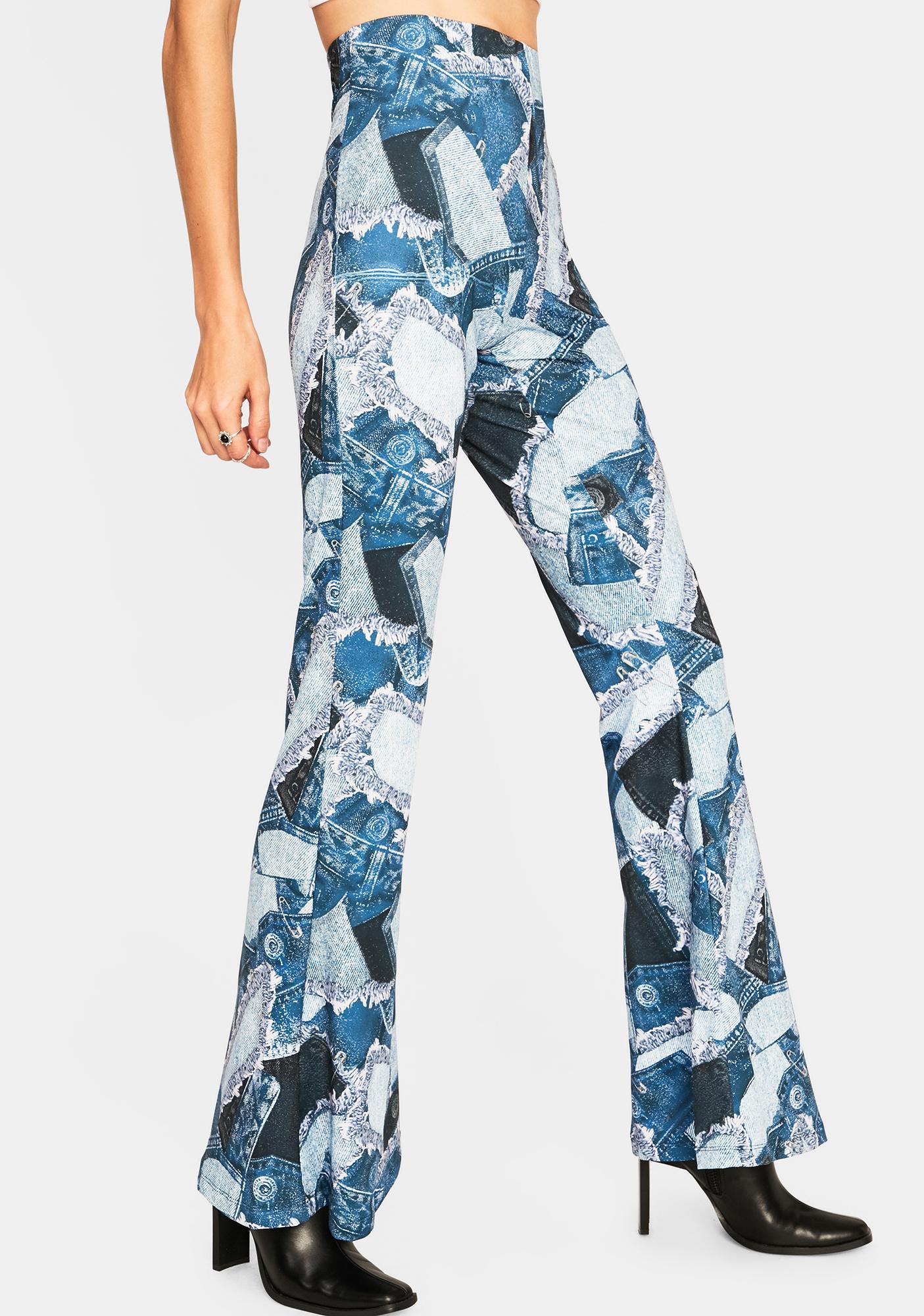 Jaded London Jersey Flare Pants