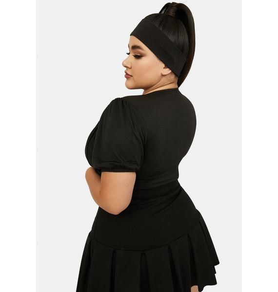 She's Picture Perfect Ruched Crop Top