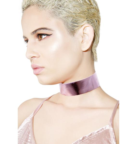 Regal Rose Metallic Pink Choker