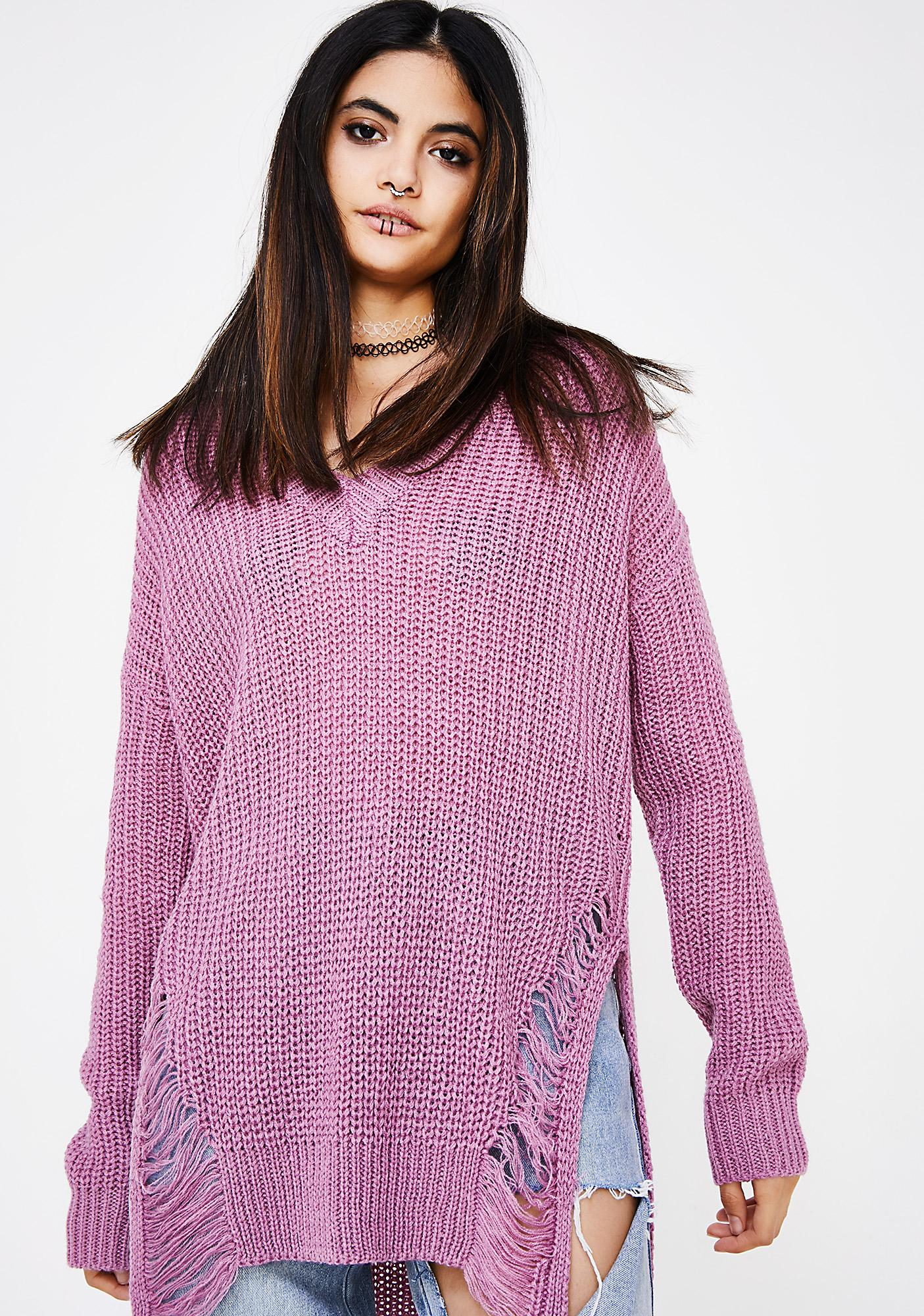 Dreamlover Distressed Sweater