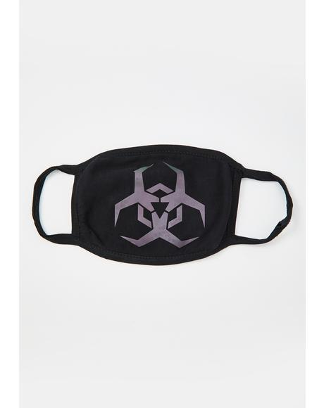 Biohazard Reflective Mouth Mask