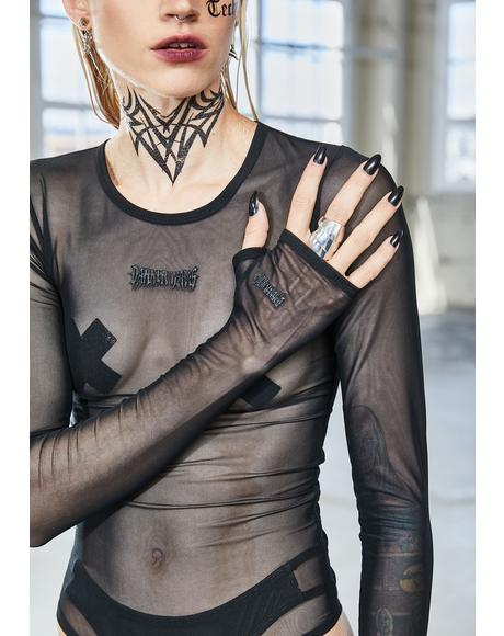 Bassline Mesh Long Sleeve Bodysuit