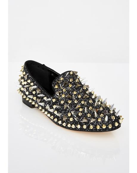 Sly Assassin Spiked Loafers