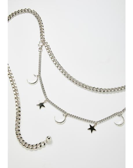 Moon Magic Celestial Star Waist Chain