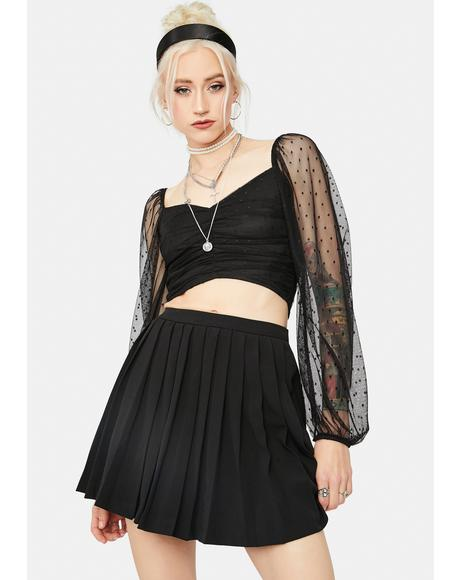 See You In Court Pleated Skirt