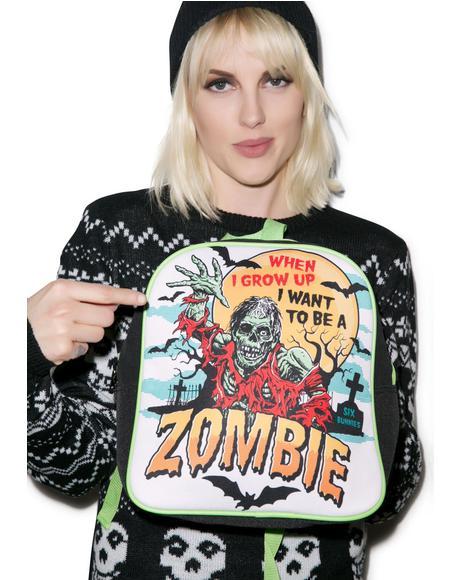 i wanna be a zombie backpack - Misfits Christmas Sweater