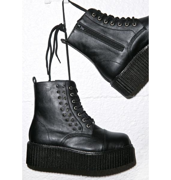 Demonia Studded Creeper Boots
