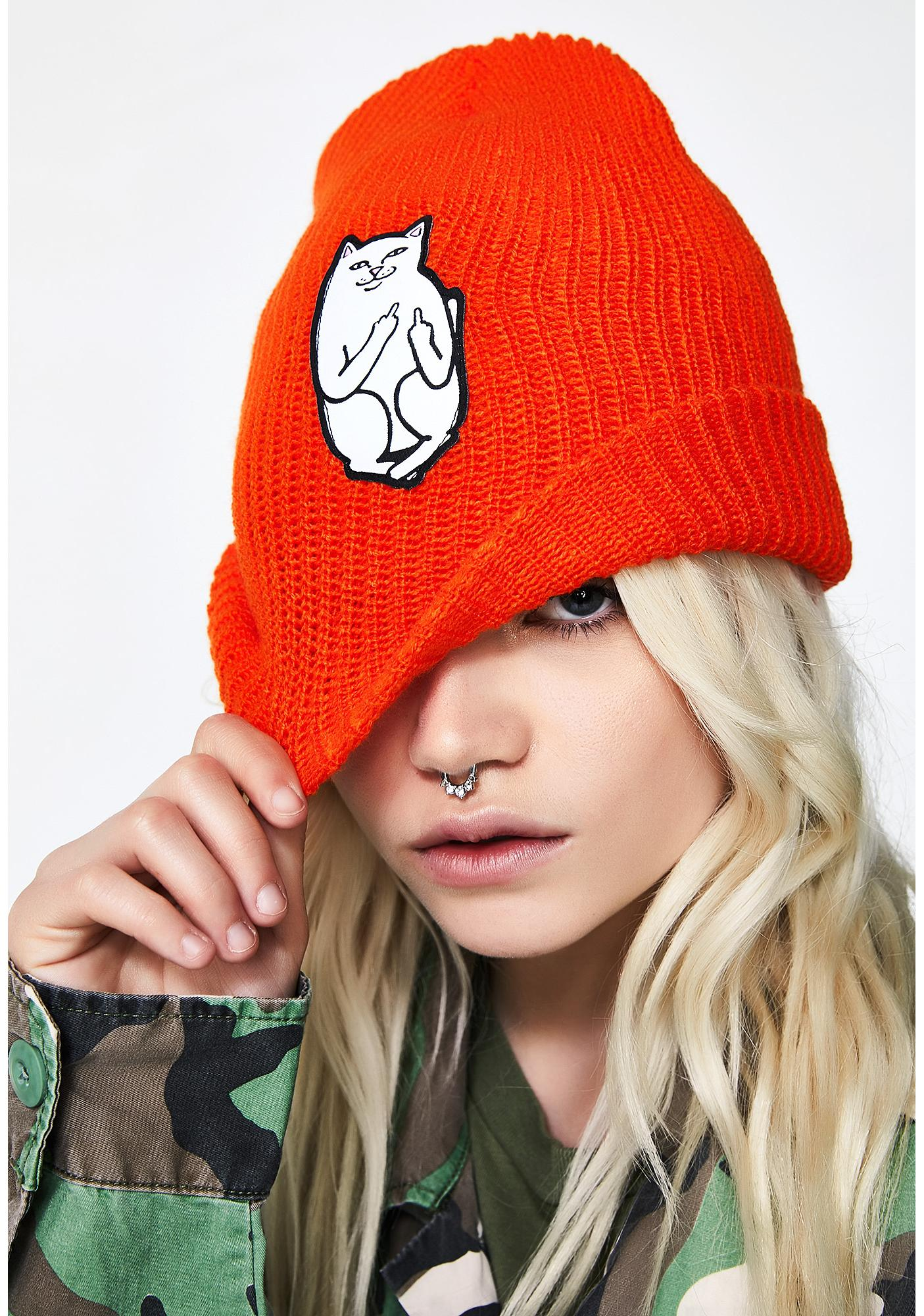 RIPNDIP Flame Lord Nermal Ribbed Beanie