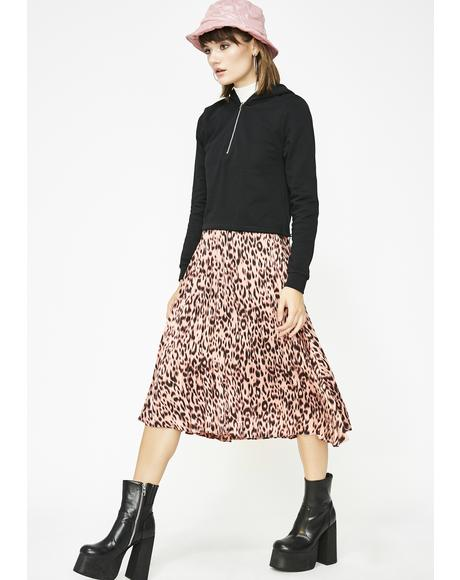 Wild About You Leopard Skirt