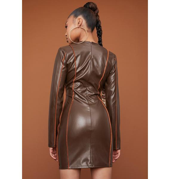 Lead The Way V-Neck Mini Dress