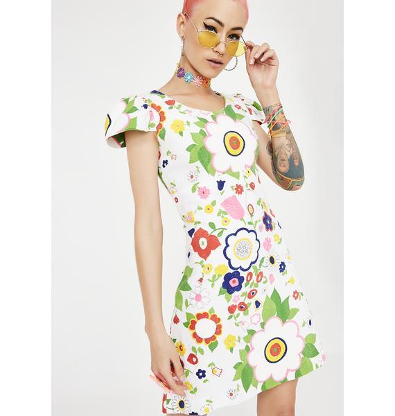 Vintage 60s Floral Dress