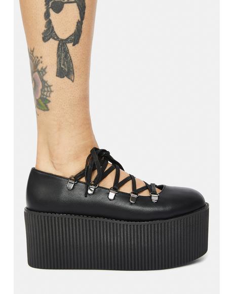 Black Kaos Ballerina Platforms