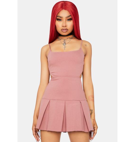 Too Peachy Pleated Dress