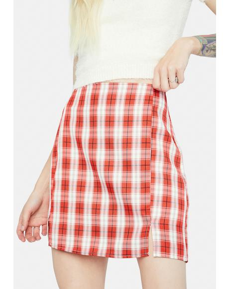 Playful in Plaid Mini Skirt