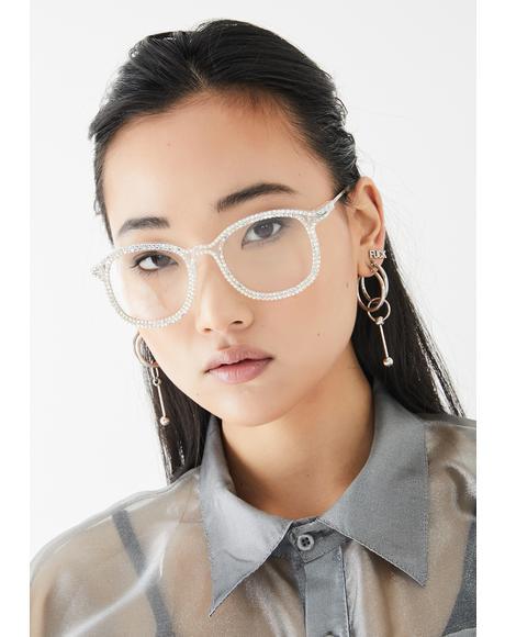 Diva Dilemma Rhinestone Glasses