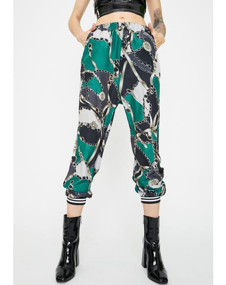 Regal Rebel Printed Joggers