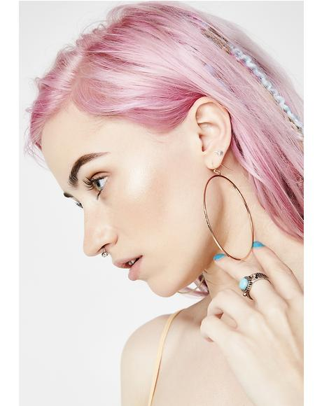 All The Vices Hoop Earrings