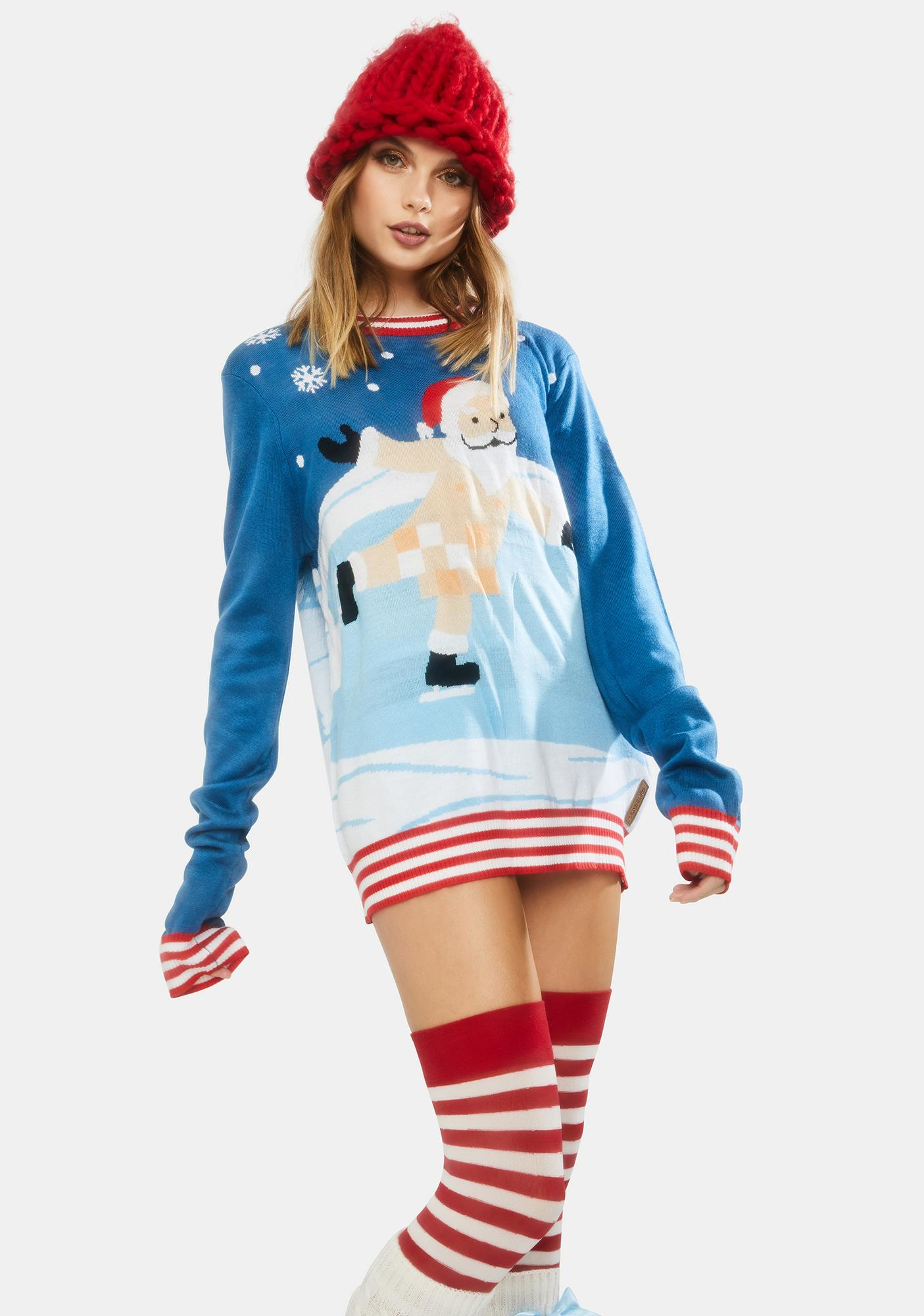 Tipsy Elves Censored Skater Ugly Christmas Sweater