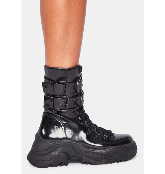 Poster Grl Hollywood Hiker Combat Boots
