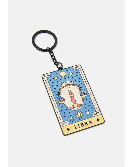 Social Libra Zodiac Keychain