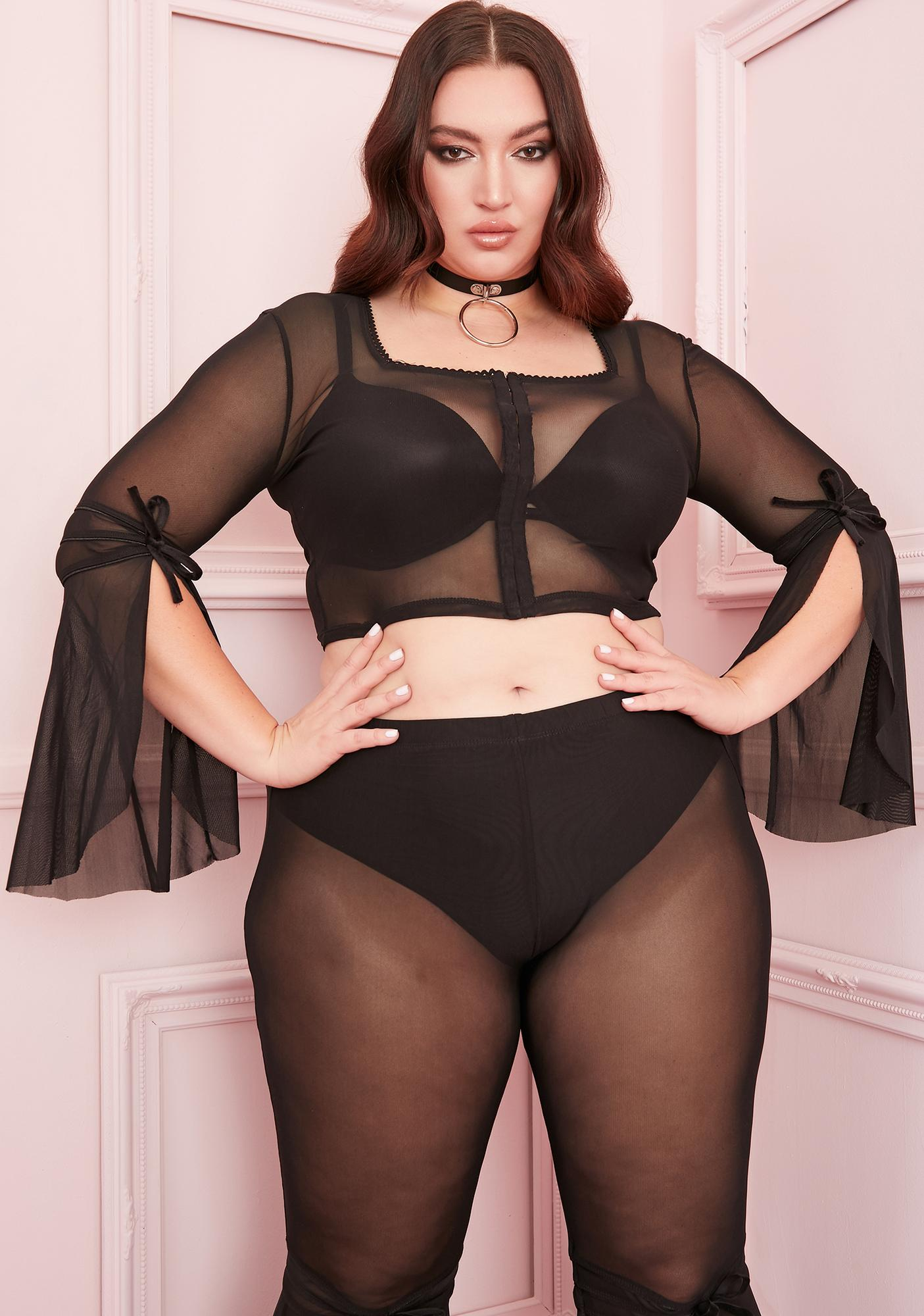 Sugar Thrillz Your Last First Date Mesh Top