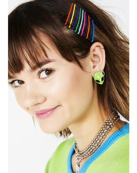 Bangin' Rainbow Bobby Pins