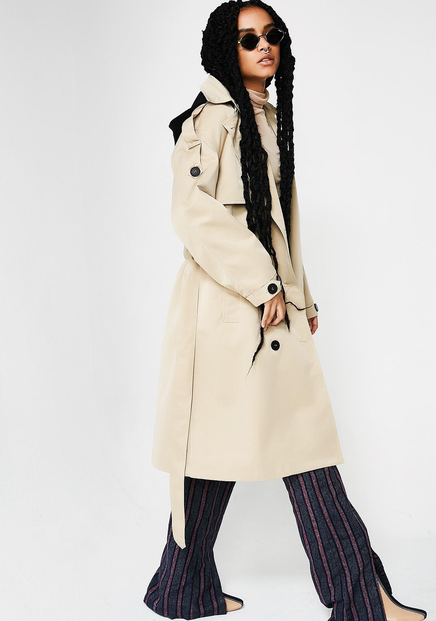 Keep It Confidential Trench Coat