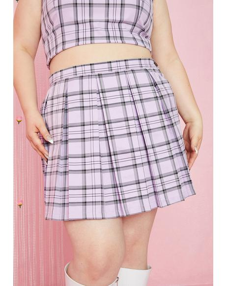 She'll Make A Scene Plaid Skirt