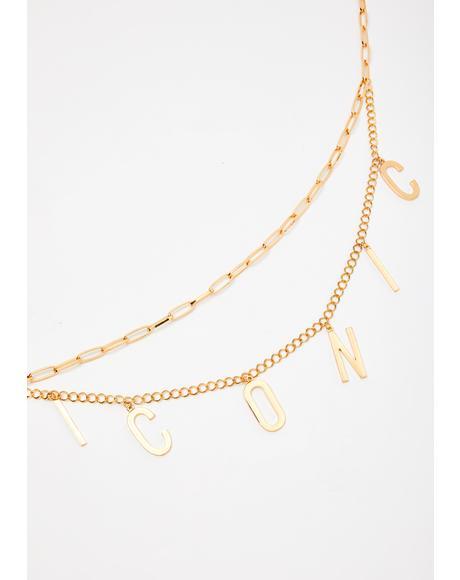 Iconic Dimensions Chain Belt