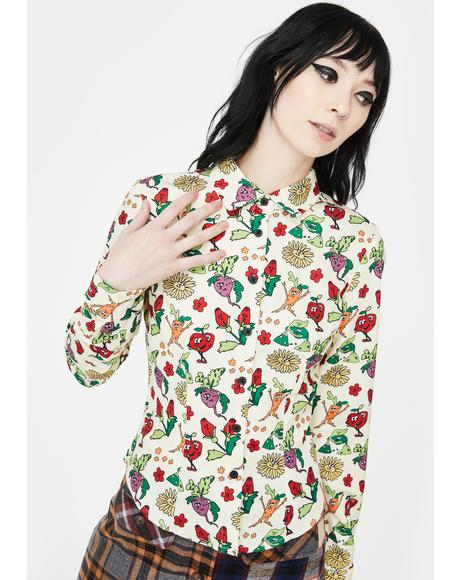 Vegetable Patch Fitted Shirt