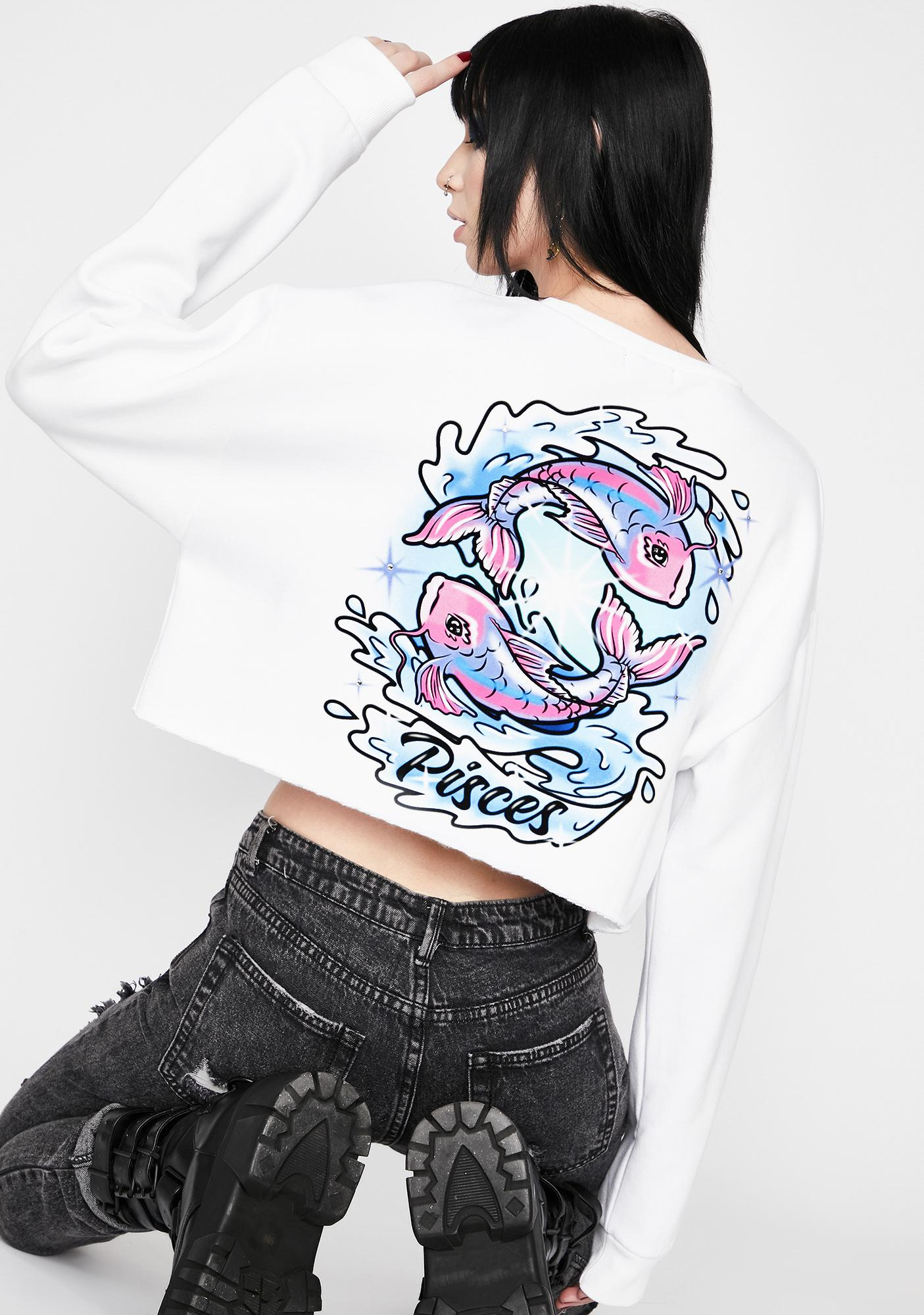 HOROSCOPEZ Pisces Rep Your Roots Airbrush Sweatshirt