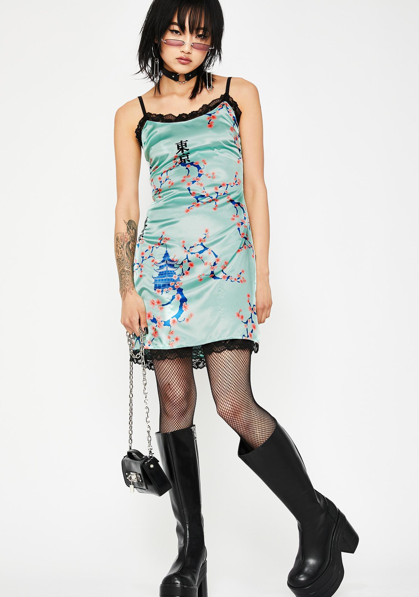 Current Mood Blooming Splendor Slip Dress