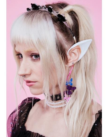 White Short Elf Ears