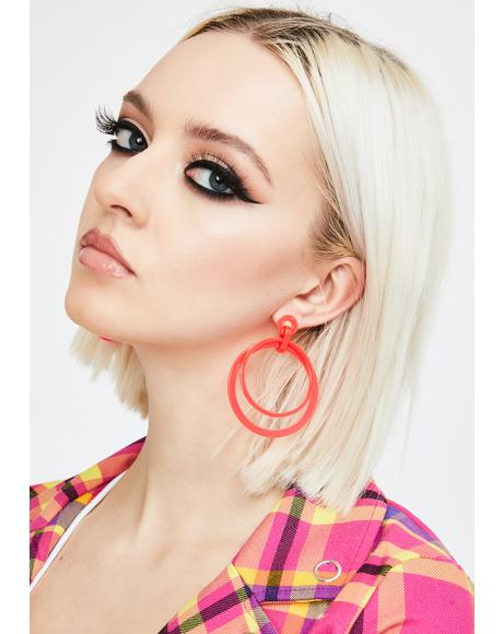 Mod Illusion Circle Drop Earrings