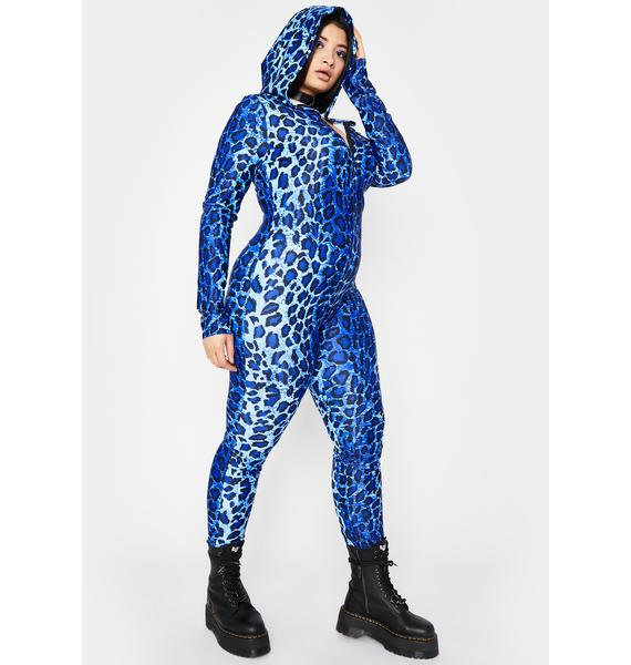 Cobalt My Haute Crush Hooded Jumpsuit