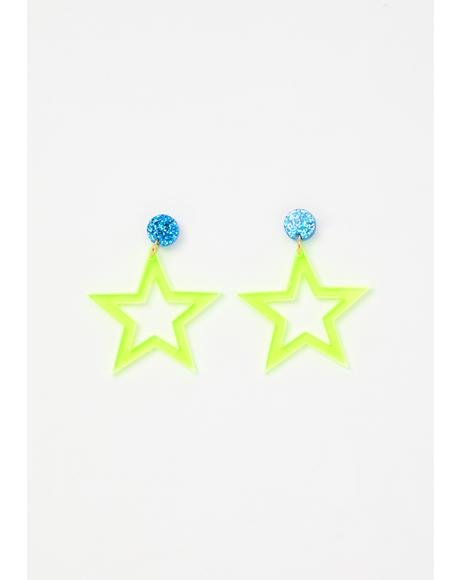 Star To Finish Acrylic Earrings