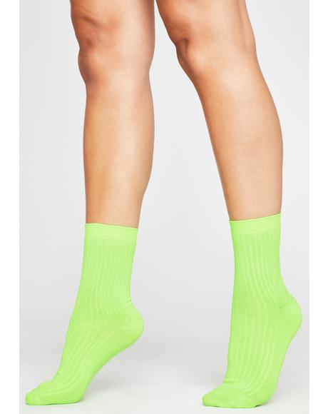 Toxic Stay Movin' Ribbed Socks