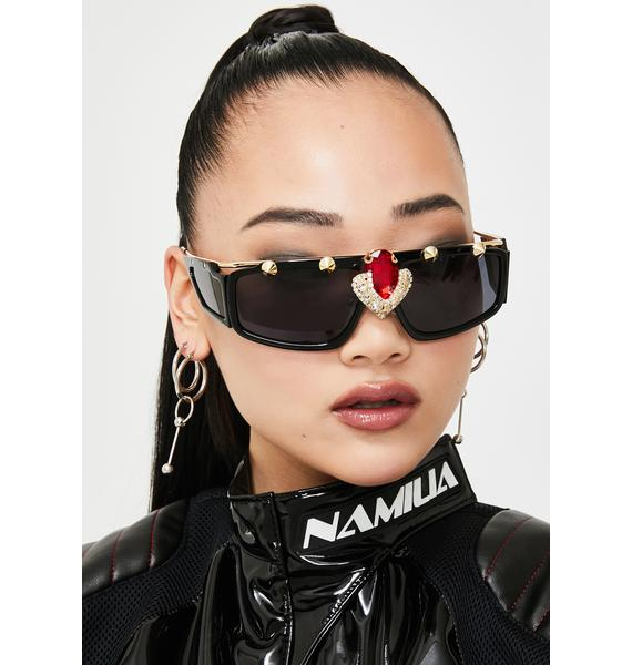 On The Grind Studded Sunglasses