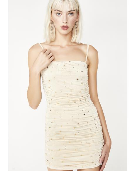 Carrie Ripple Nude Dress