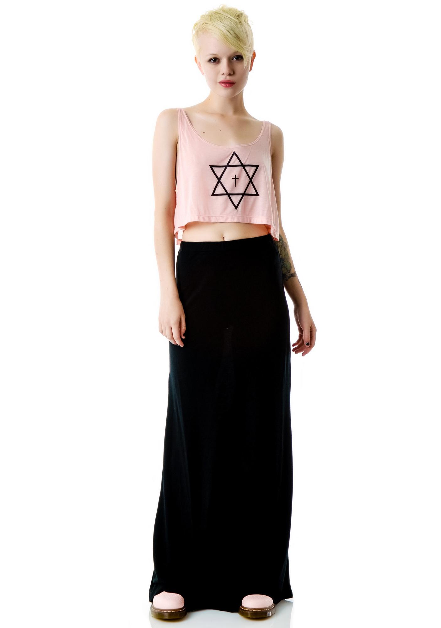 United Couture Trippy Cropped Tank Top