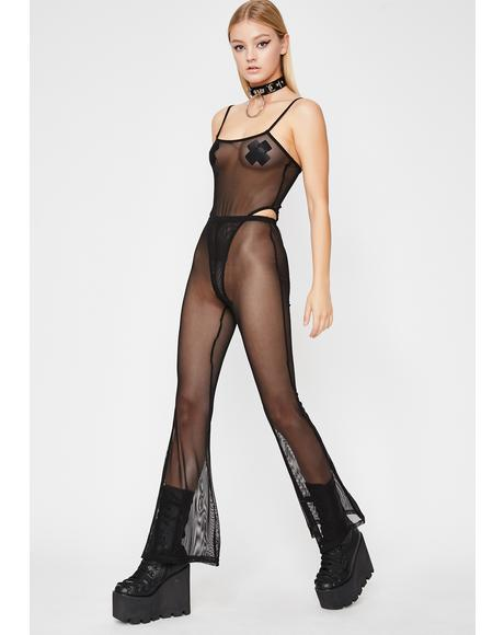 Onyx Untamed Techno Sheer Pant Set