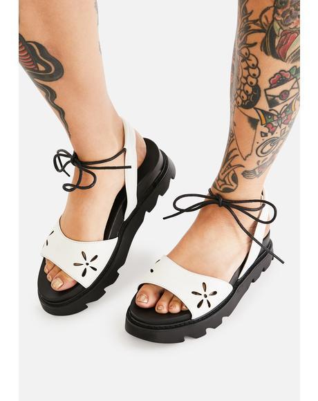 Nights In Springtime Platform Sandals